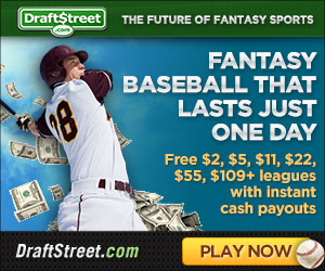 Click on this banner to sign up for DraftStreet daily baseball leagues